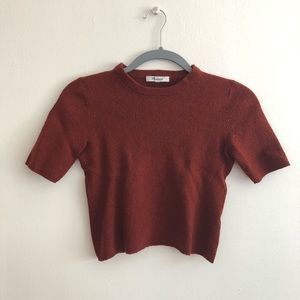 Madewell Red Wool Top
